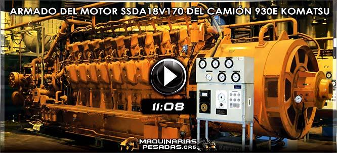 Vídeo de Ensamblaje del Motor SSDA18V170 del Camión Minero Komatsu 930E