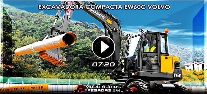 Vídeo de Excavadora Compacta de Neumáticos EW60C Volvo
