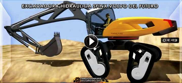 Vídeo de Excavadora Hidráulica SFINX Volvo - Diseño Futurístico y Tecnologías