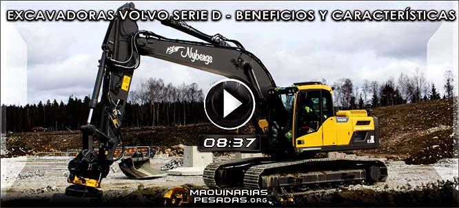 Vídeo de Excavadoras Hidráulicas Volvo Serie D - Beneficios y Características