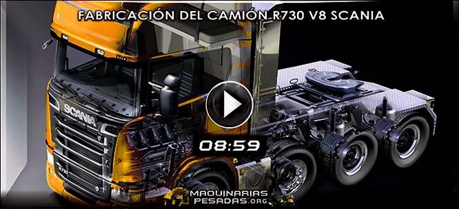 Vídeo de Fabricación del Mega Camión R730 V8 Scania – Documental Discovery Max