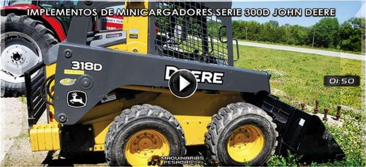 Vídeo de Implementos de Minicargadores Serie 300D John Deere – Accesorios