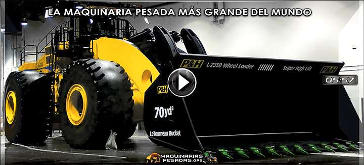 Vídeo: Maquinaria Pesada más Grande del Mundo - Liebherr, Hitachi & Letourneau