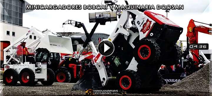 Vídeo de Minicargadores Bobcat y Equipos Pesados Doosan – Exhibición y Pruebas