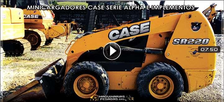 Vídeo de Minicargadores Case SR130 a SR220 serie Alpha con Implementos