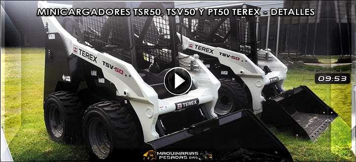 Vídeo de Minicargadores TSR50, TSV50 y PT50 Terex – Características y Beneficios