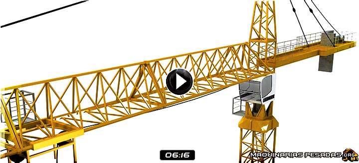 Vídeo de Montaje de una Grúa Torre – Ensamblaje de Componentes en Animación