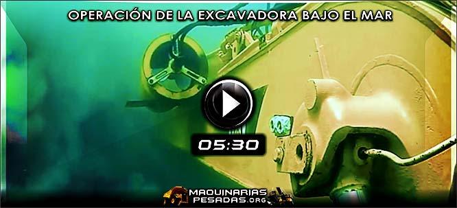 Vídeo de Operación de la Excavadora Hidráulica Bajo el Mar (Submarina)