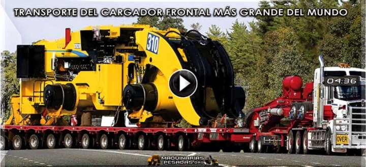 Vídeo de Transporte del Cargador Frontal más Grande del Mundo - L2350 P&H