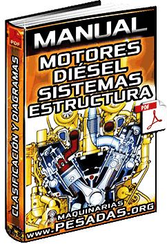 Manual de Motores Diésel - Clasificación, Partes, Estructura, Diagramas y Sistemas