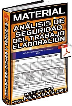 Material: Análisis de Seguridad del Trabajo – Elaboración, Consideraciones y Técnicas