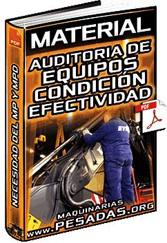 Material: Auditoria de Equipos – Condición Actual, Efectividad Global y Necesidad del MP