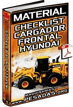 Material: Checklist del Cargador Frontal HL770 Hyundai – Inspección de Componentes