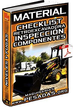 Material: Checklist de la Retroexcavadora – Inspección, Lubricación, Niveles y Fugas