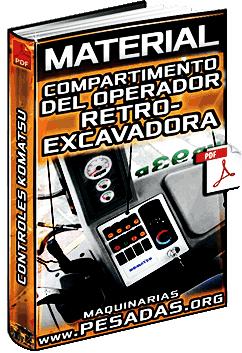 Material: Compartimiento del Operador de una Retroexcavadora Komatsu – Controles