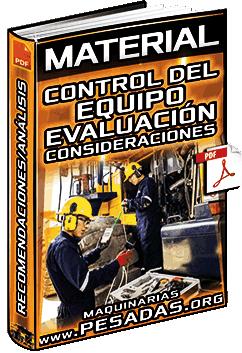 Material: Control del Equipo – Evaluación, Consideraciones, Recomendaciones y Análisis
