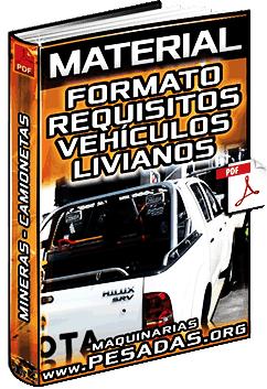 Material: Formato de Requisitos para Vehículos Livianos en Minera (Camioneta)
