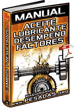 Material: Aceite Lubricante – Desempeño, Factores, Evaluación, Cambios y Resultados