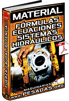 Material: Fórmulas y Ecuaciones de Hidráulica - Fuerza, Caudal, Potencia y Flujo