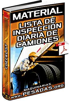 Material: Lista de Inspección Diaria de Camiones Tráiler – Revisiones y Checklist
