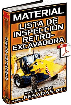 Material: Formato de Inspección de Retroexcavadoras – Checklist Diario General