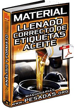 Material: Llenado Correcto de Etiquetas – Aceite, Muestras, Refrigerantes y Análisis