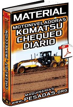 Material de Motoniveladoras Komatsu – Checklist Diario de Componentes