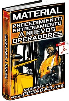 Material: Procedimiento Operativo de Entrenamiento a Nuevos Operadores – Pasos