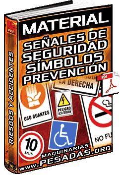 Material: Señales y Tarjetas de Seguridad – Símbolos, Riesgos y Prevención de Accidentes