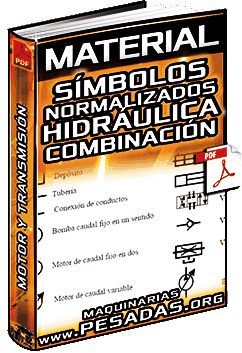 Material: Símbolos Normalizados – Hidráulica – Motor, Transmisión, Filtro, Nivel y Presión