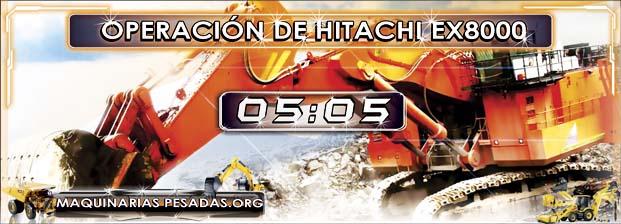 Video del Proceso de Operación de la Pala Hidráulica Hitachi EX8000