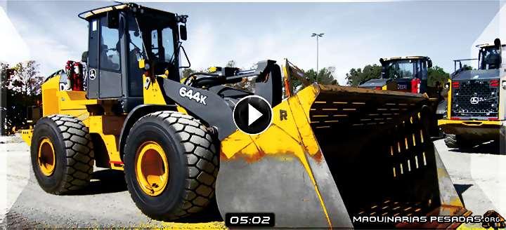 Vídeo de Cargador Frontal 644K John Deere – Vista del Exterior e Interior