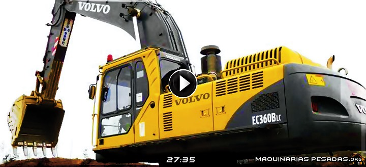 Vídeo de Operación de Excavadora EC360B LC Volvo – Inspección, Cabina y Controles