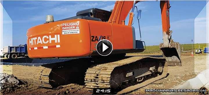 Vídeo de Operación de una Excavadora Zaxis 200 Hitachi – Controles y Funciones
